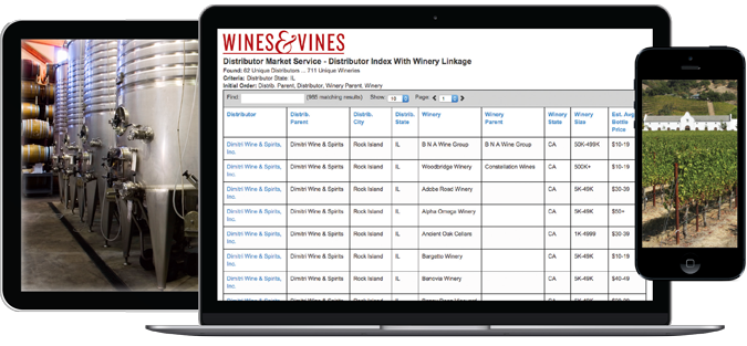 Wines & Vines Online Marketing and Data Services